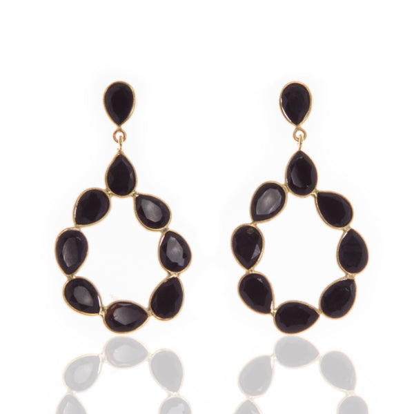 Natasa Black Onyx Earrings