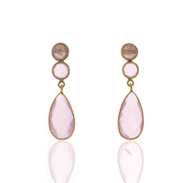 Karissa Rose Quartz Earrings