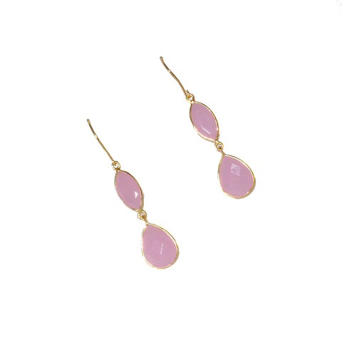 Astara Rose Quartz Earrrings