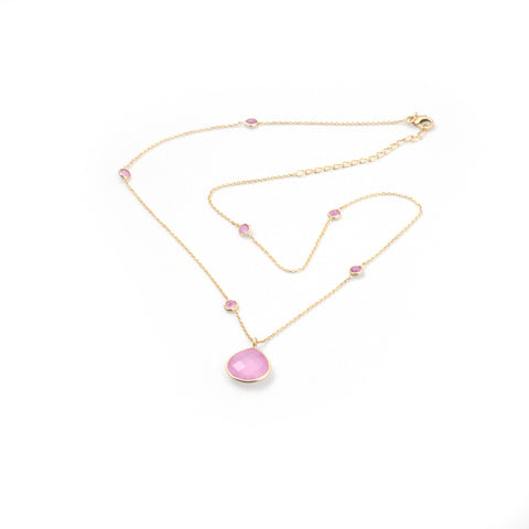 Clara Necklace Rose Chalcedony
