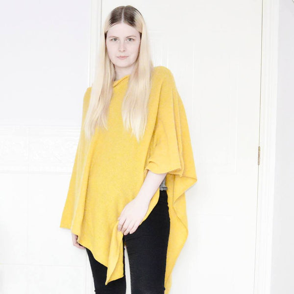 yellow-poncho-pure-cashmere