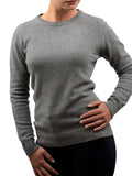 Crew neck in 100% regenerated cashmere
