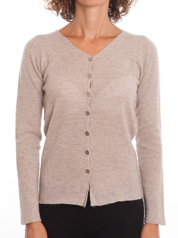 Cardigan With Buttons 100% Cashmere | Dalle Piane Cashmere