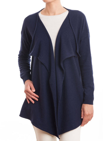 Waterfall Cardigan Cashmere Blend | Dalle Piane Cashmere