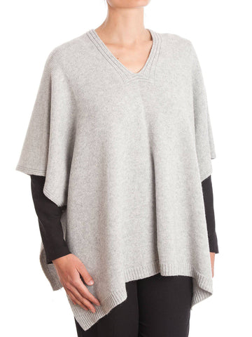 Cape With Button Cashmere Blend | Dalle Piane Cashmere