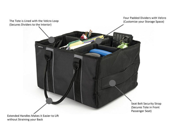 Adjustable File Storage Tote