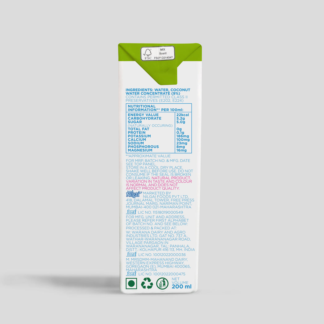Coconut Water 200ml (case of 27)