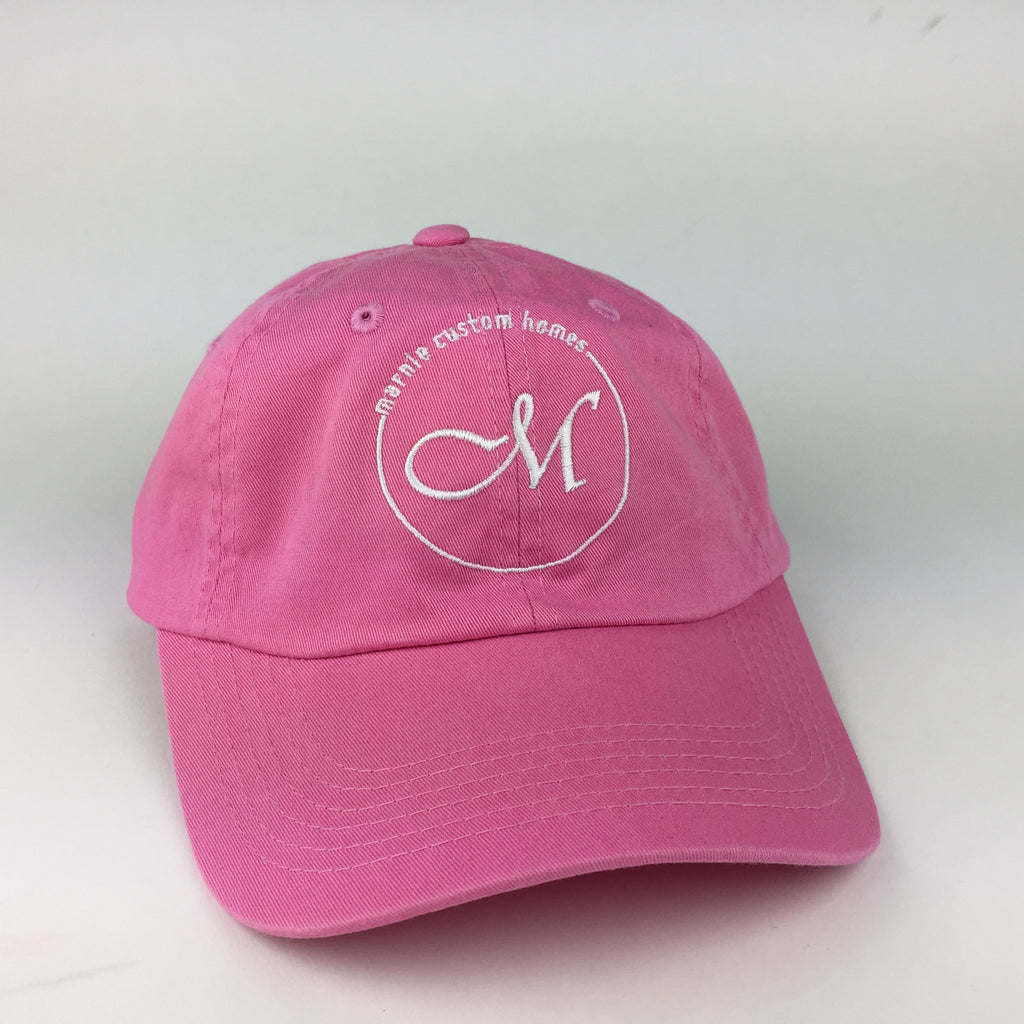 Pink Embroidered Hat