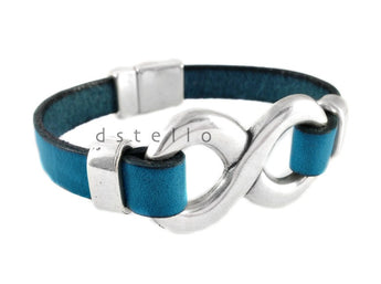 Infinity bracelet, Women's leather bracelet, Custom made, Gift idea - dstello
