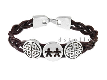 Celtic Love - men's leather bracelet 31-G - dstello - 1