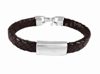Men's leather bracelet, Braided bracelet - dstello - 1
