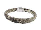 Real python snake skin bracelet for men