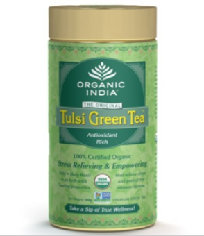 Organic India Tulsi Green Tea 100 Gram Tin
