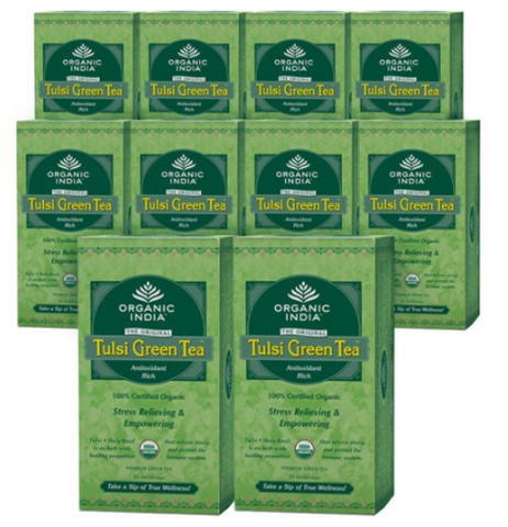 Organic India Tulsi Green Tea - 250 Bags - GreenDoor Organics