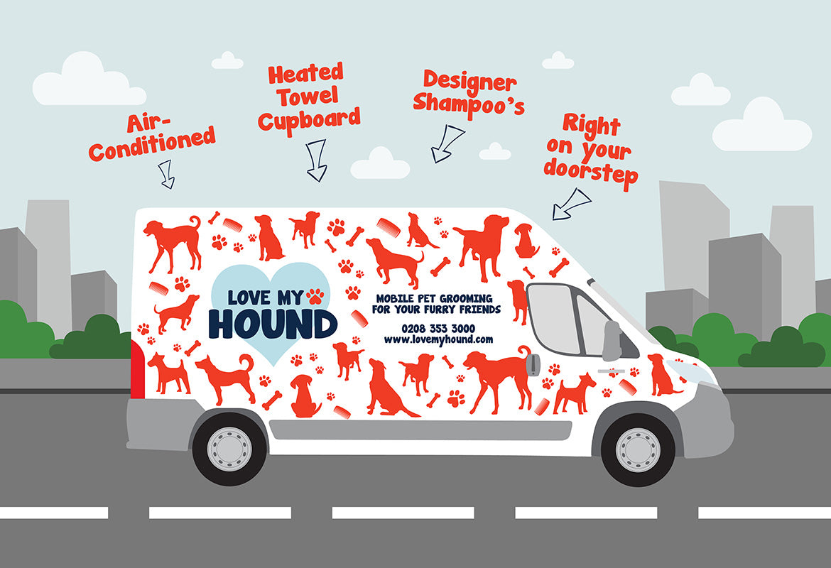 stylist and luxury how to design a dog house. To book an appointment call 0208 353 3000 or email woof lovemyhound com Love My Hound  Beckenham London Dog Pet Grooming Van