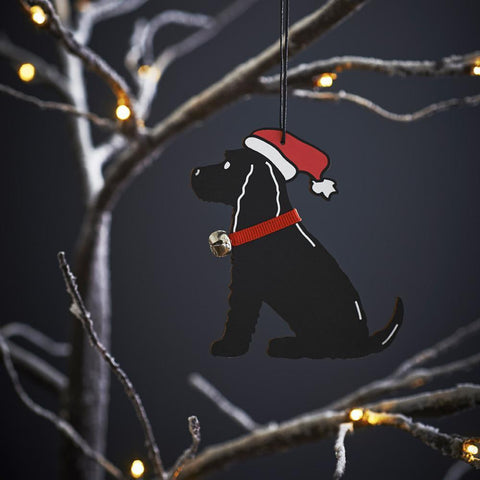 Black Cocker Spaniel Christmas Tree Decoration