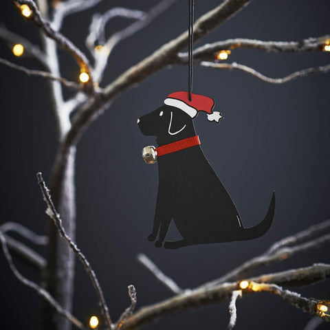 Black Labrador Christmas Tree Decoration