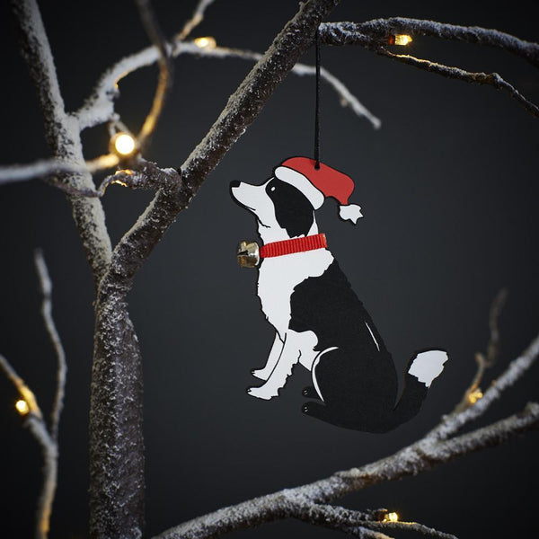 Border Collie Tree Decoration-Sweet William-Love My Hound