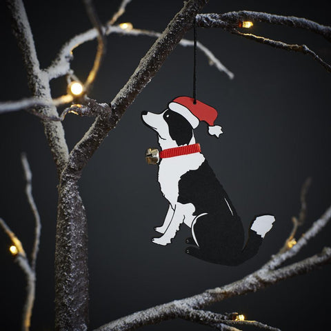 Border Collie Tree Decoration