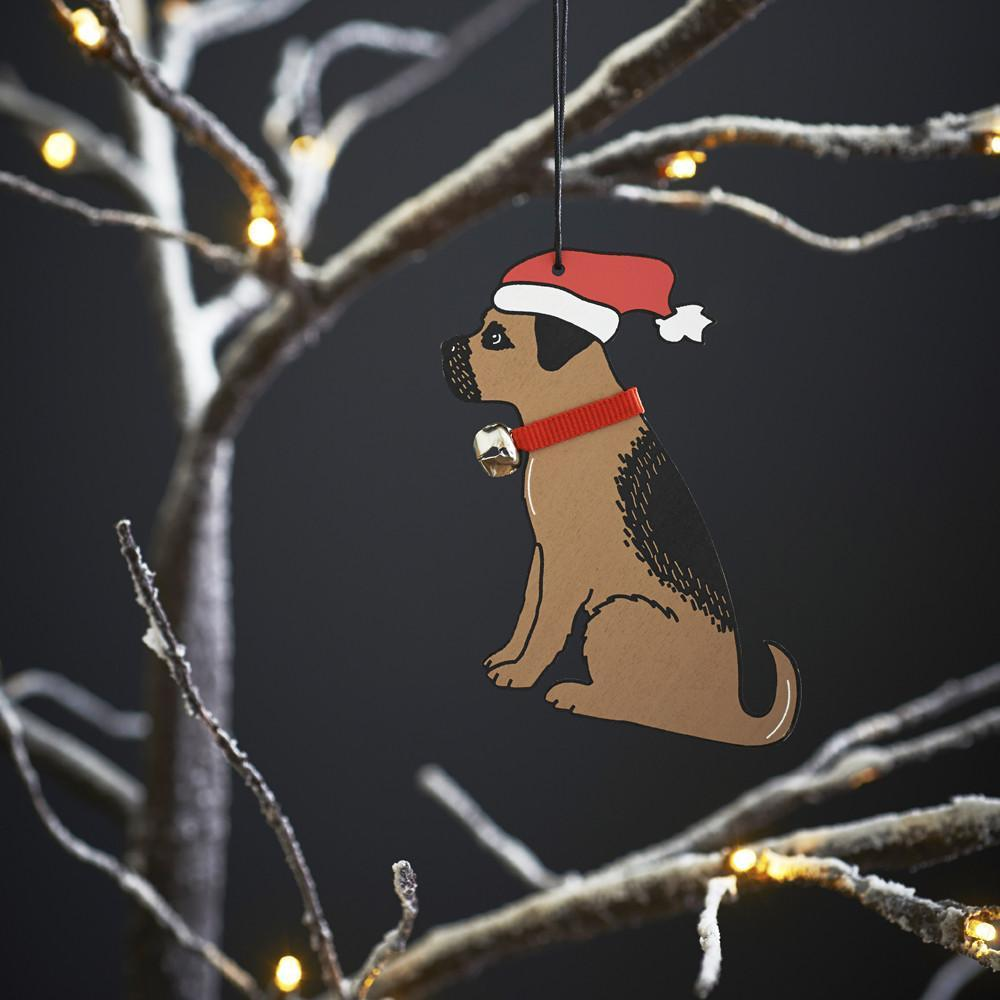 Border Terrier Christmas Tree Decoration-Sweet William-Love My Hound