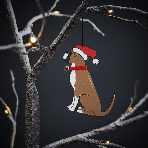 Boxer Dog Christmas Tree Decoration