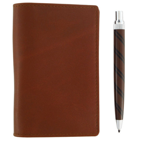 Retro 51 Traveller Notepad and Ballpoint Pen - Brown