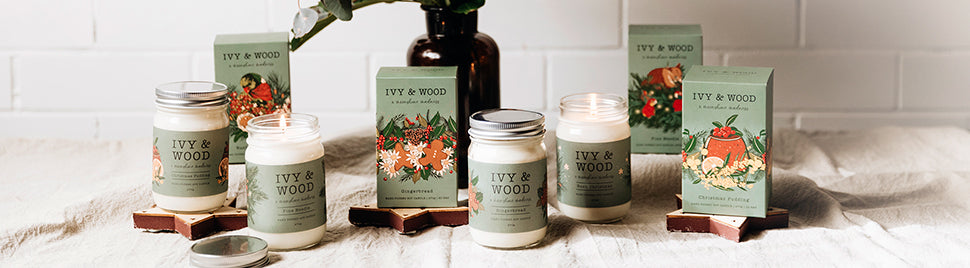 Ivy & Wood Christmas Candle Collection