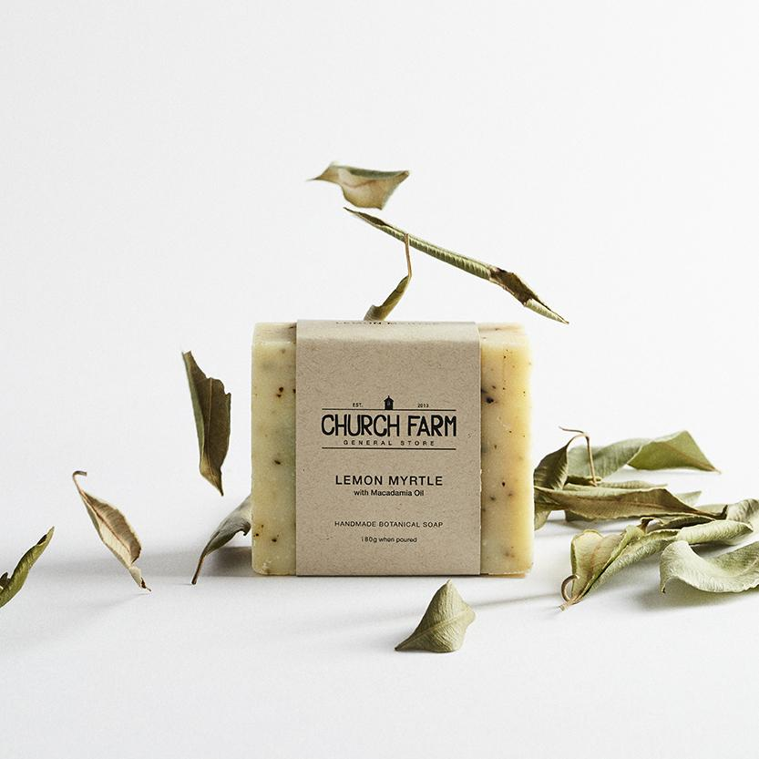 Lemon Myrtle with Macadamia Oil Botanical Soap by Church Farm General Store