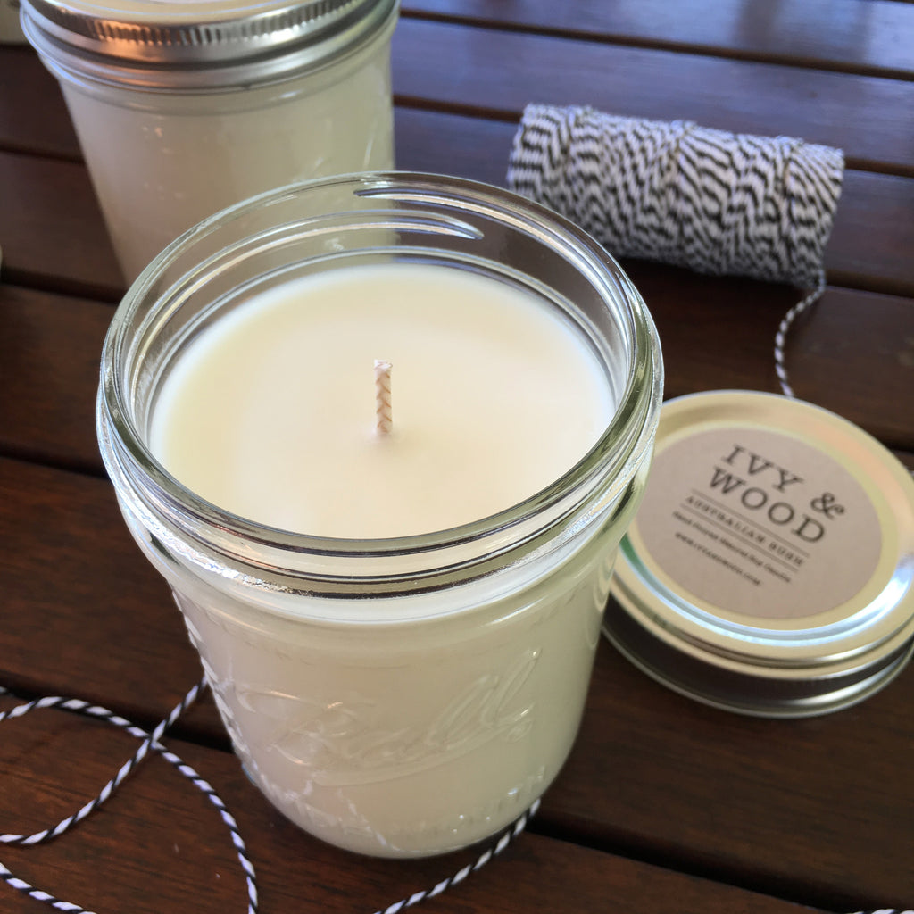 Citronella Pure Essential Oil Soy Candle - Ivy & Wood - Australian Made