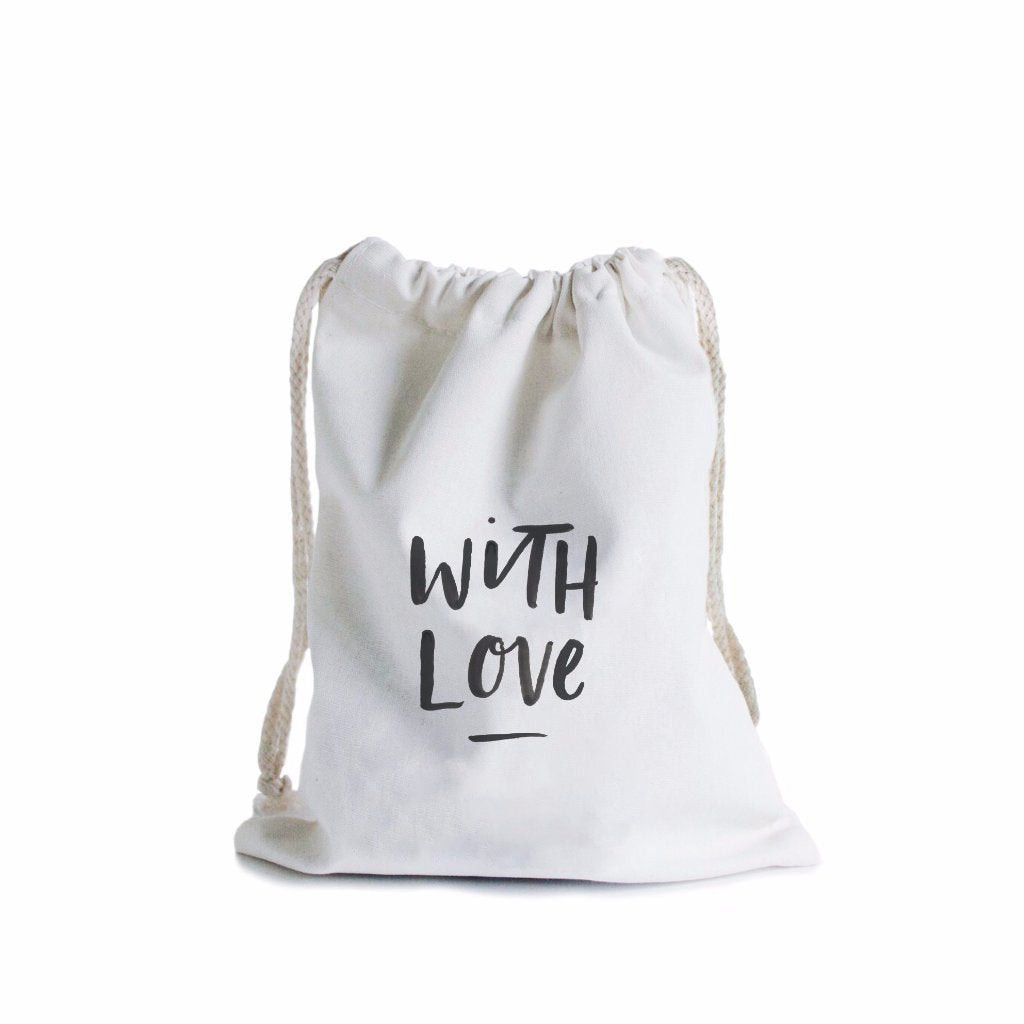 With Love Canvas Gift Bag by In The Daylight