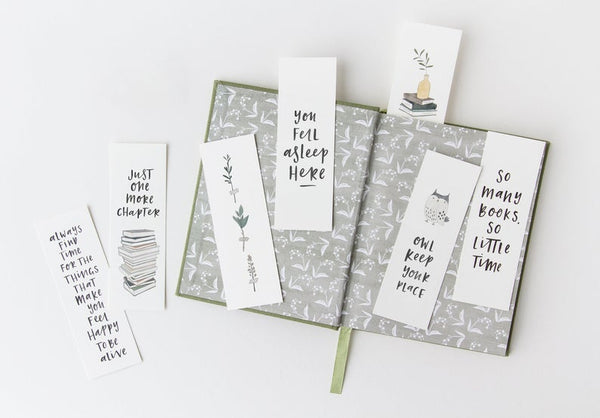 Bookmarks Set of 5 by In The Daylight