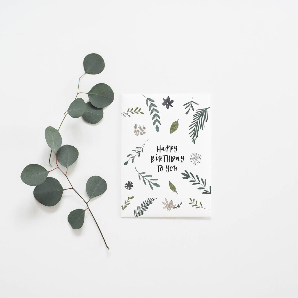 Birthday Botanical Greeting Card by In The Daylight