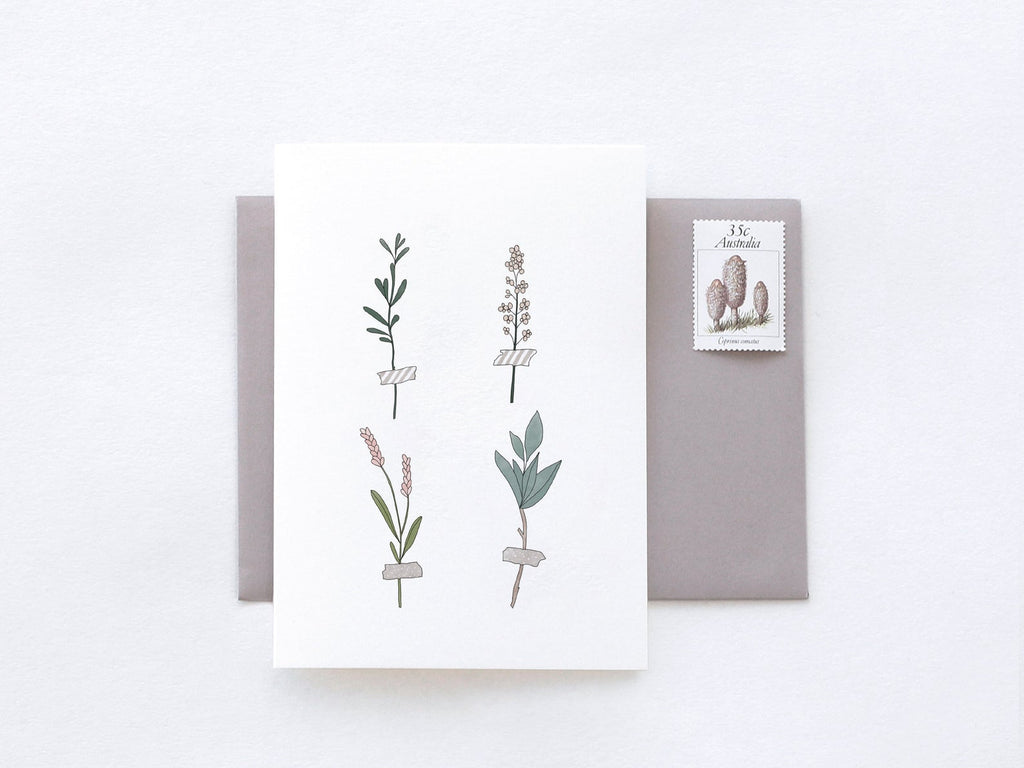 Botanical Stems Greeting Card by In The Daylight