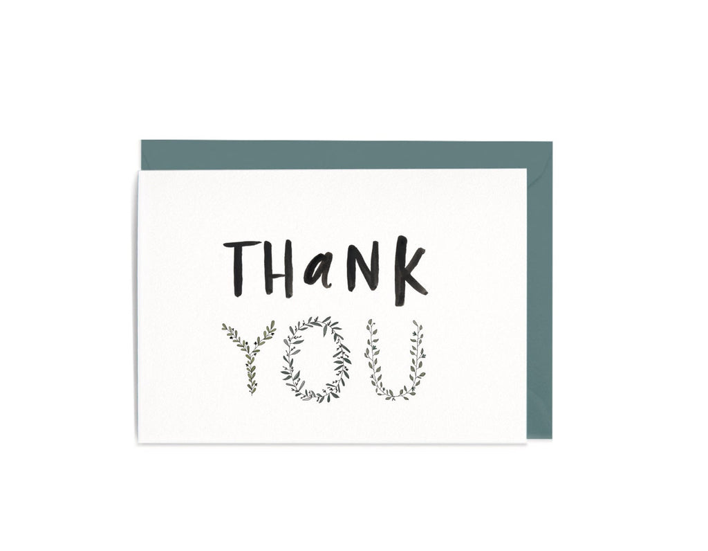 Thank You Botanical Greeting Card by In The Daylight