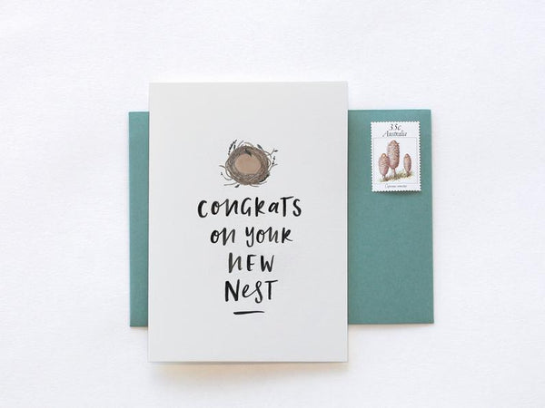 Congratulations On Your New Nest Greeting Card by In The Daylight