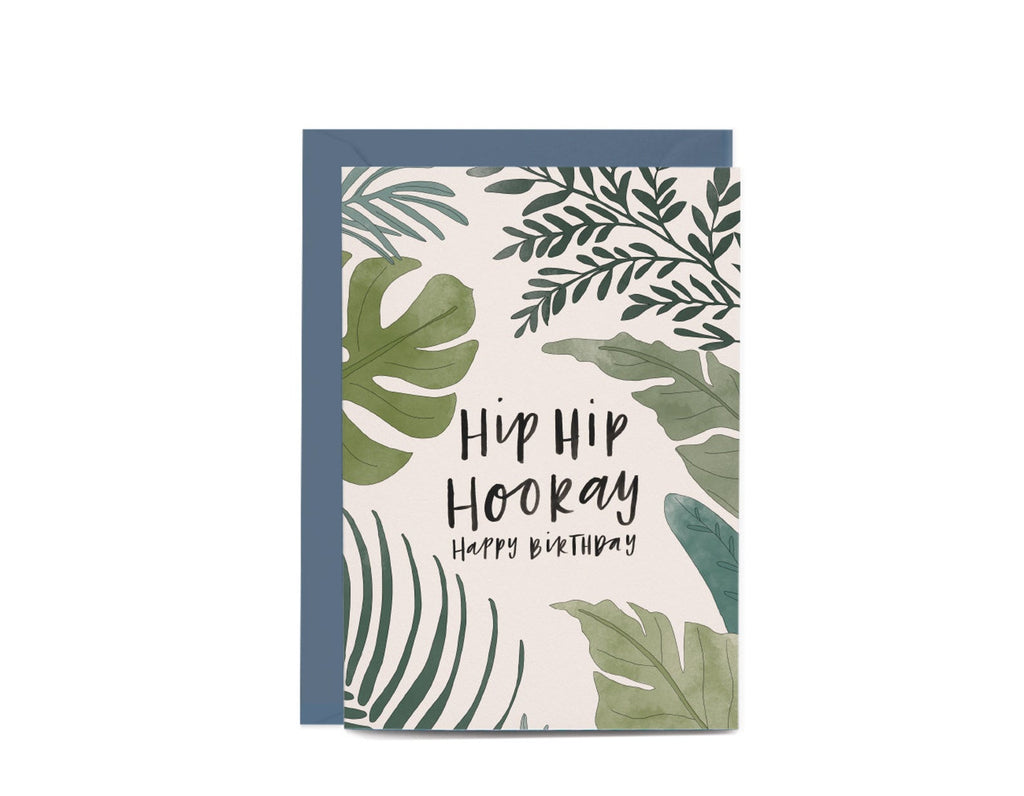 Birthday Botanical Ferns Greeting Card by In The Daylight