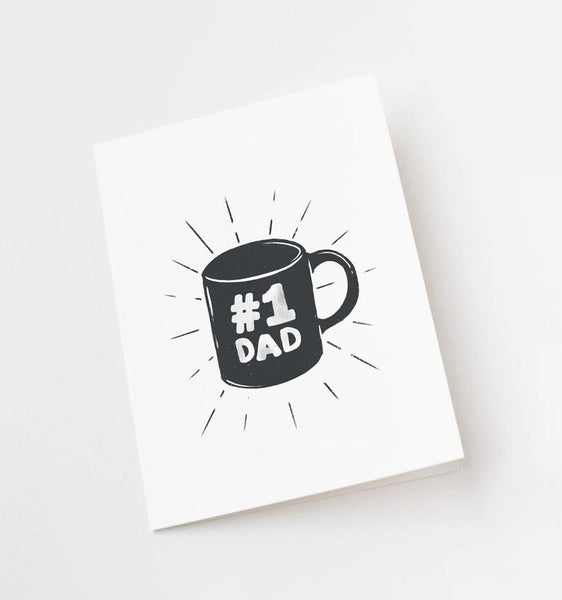 No 1 Dad Greeting Card by In The Daylight