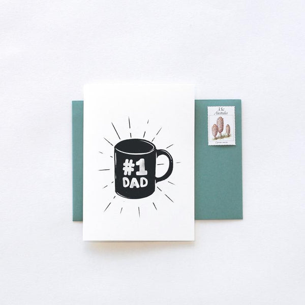 Father's Day No 1 Dad Greeting Card by In The Daylight