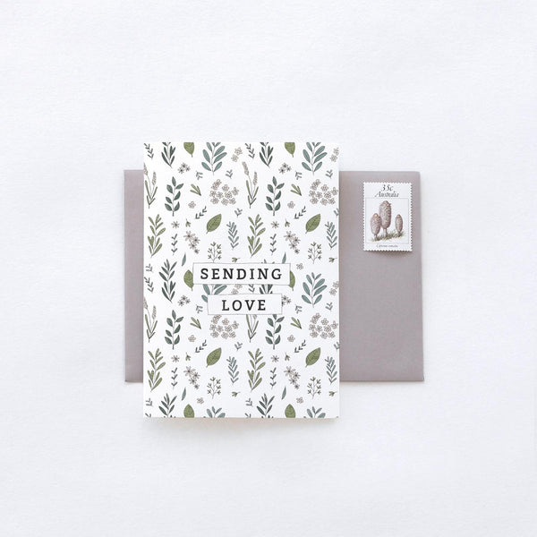 Sending Love Botanic Greeting Card by In The Daylight