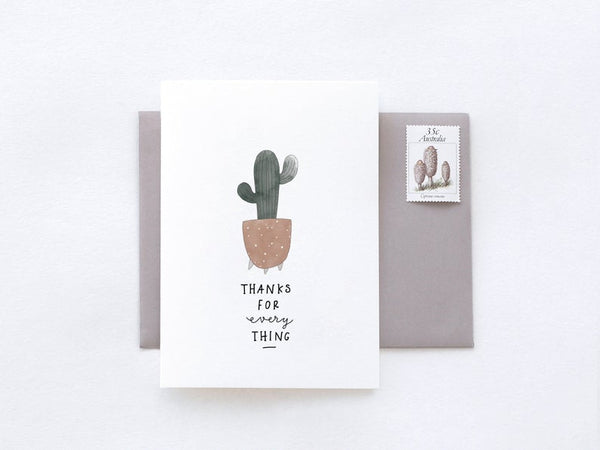 Thanks For Everything Greeting Card by In The Daylight