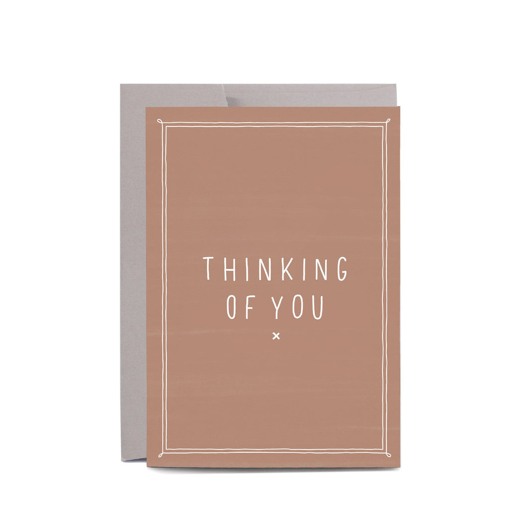 Thinking Of You (Blush) Greeting Card by In The Daylight