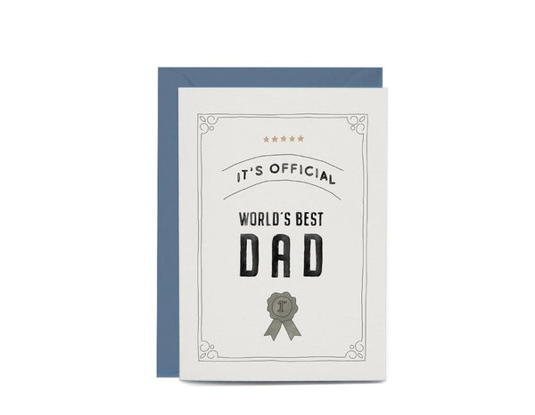 Father's Day World's Best Dad Greeting Card by In The Daylight