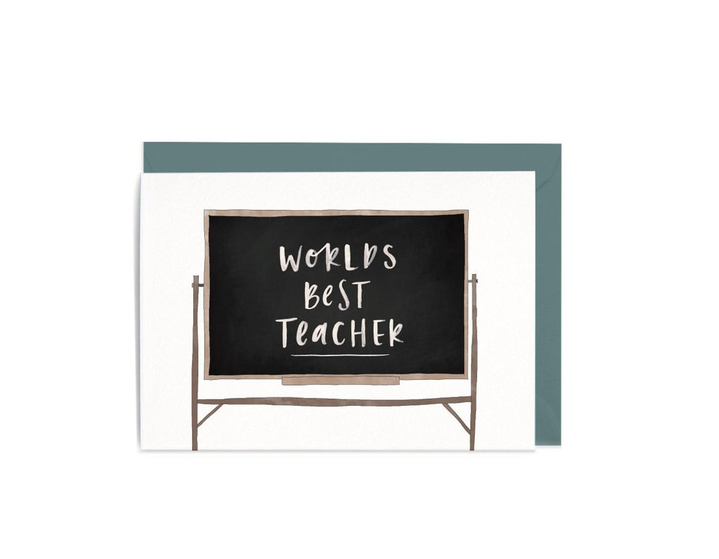 World's Best Teacher Greeting Card by In The Daylight