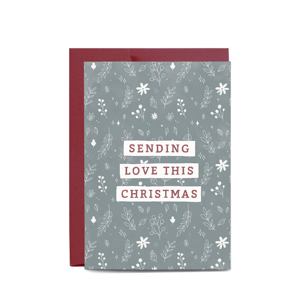 Sending Love Christmas Greeting Card by In The Daylight