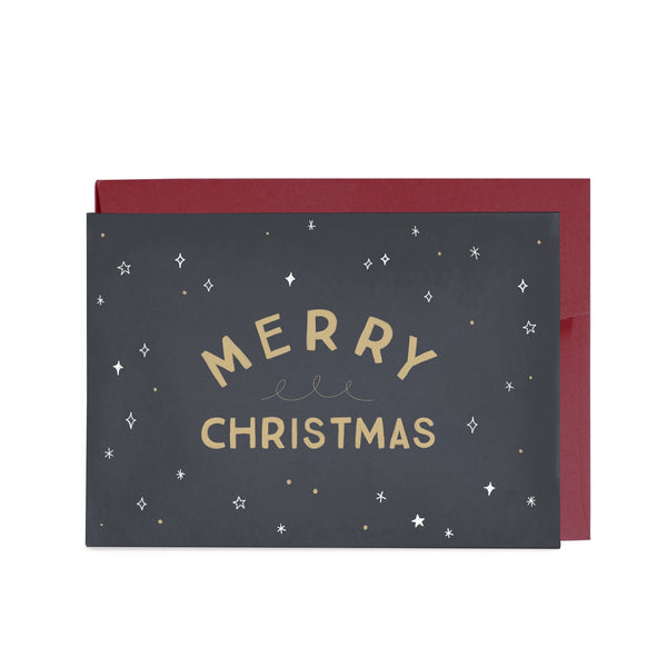 Starry Christmas Sky Greeting Card by In The Daylight