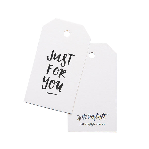 Just For You Gift Tag Set of 5 by In The Daylight