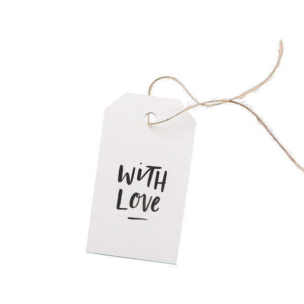 With Love Gift Tag Set of 5 by In The Daylight
