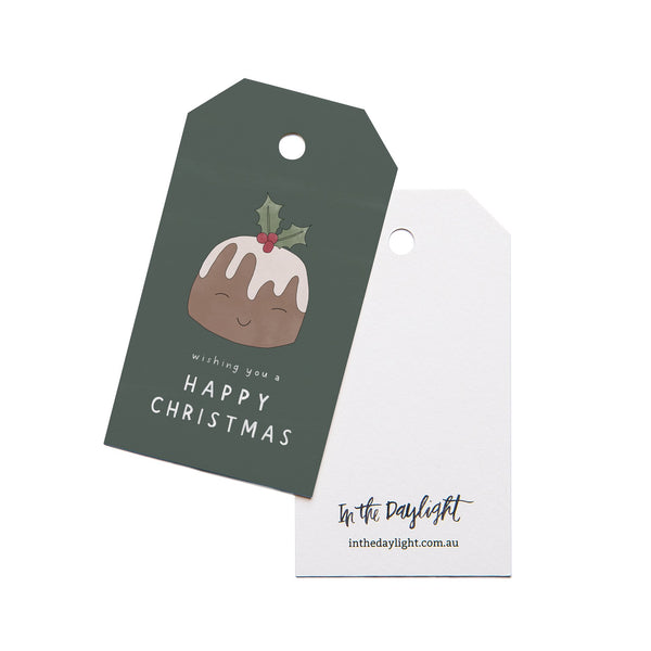 Christmas Pudding Gift Tag Set of 5 by In The Daylight