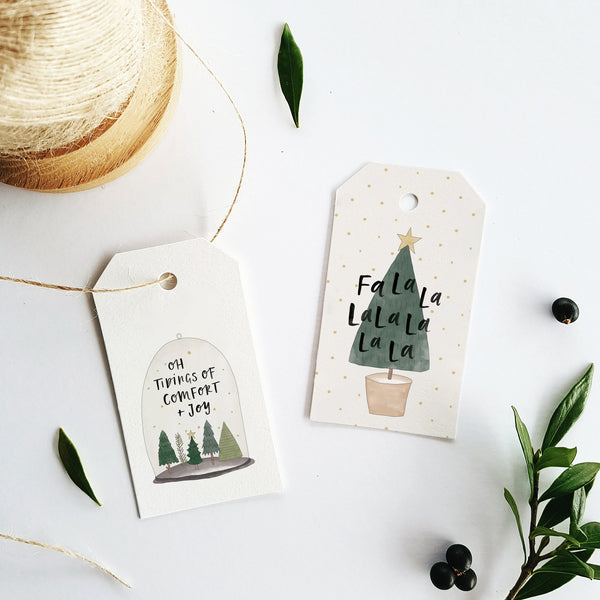 Christmas Tree Gift Tag Set of 5 by In The Daylight