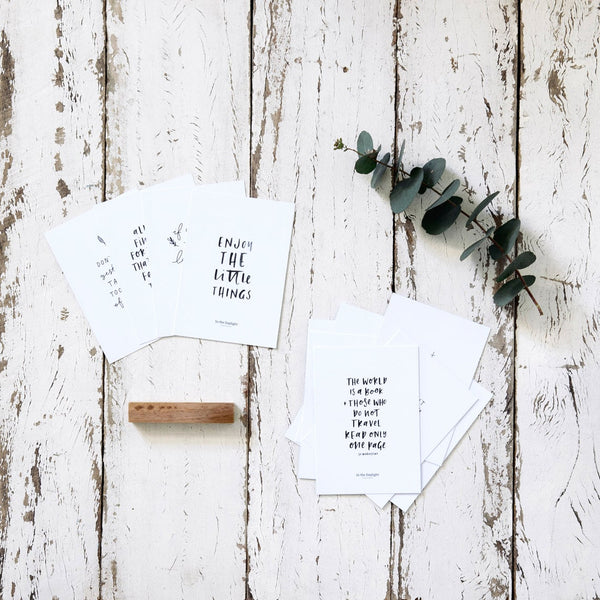 Inspirational Quote Card Set by In The Daylight